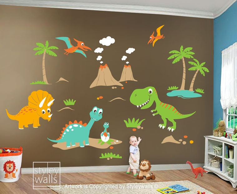 Children Wall Decals Dino Land Dinosaurs Decal