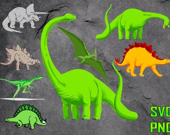 DINOSAURS SVG for cutting machines Svg digital files Instant download cutting machine Laser engraving files Silhouette files Cameo files