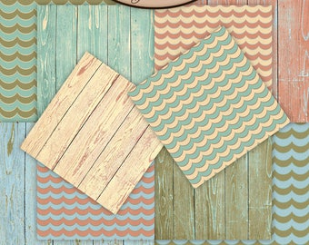 Digital Scrapbooking: Sea, Paper Pack Extra, By The Sea