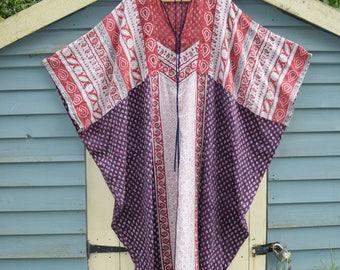 Indian cotton Gypsy Festival  dress Folk boho hippy tunic dress  s m l Uk 10 12 14 US  8 6 10  ethnic  kaftan  dress