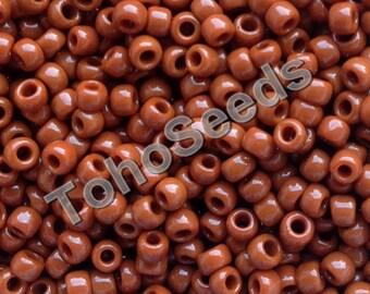 10g Toho Seeds Beads 8/0 Opaque Terra Cotta TR-08-46L size 8 Terracotta Brown