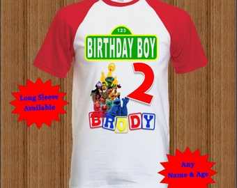 Sesame Street Birthday Shirt - Raglan Shirt Available