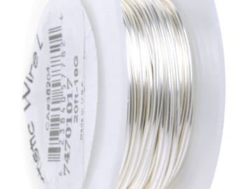 ART WIRE 18G Non Tarnish Silver plate, 20G, 22G, 24G, 26G, 28G, Artistic wire, wire to wrap stones, Stone Wrapping wire, Canadian Supplier