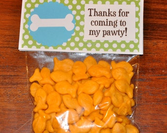 Puppy Treat Bags. Favor Bags. Dog Party.Puppy. Dog.Goodie Bags. Set of 6. Bags. Toppers.