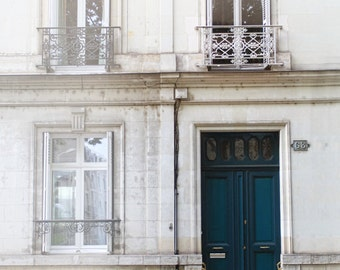 Paris photography, doors of France, French architecture, French streetscape, teal door, elegant door, french home, fine art photography