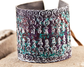 Leather Jewelry Wrist Cuff For Women Wide Bracelet