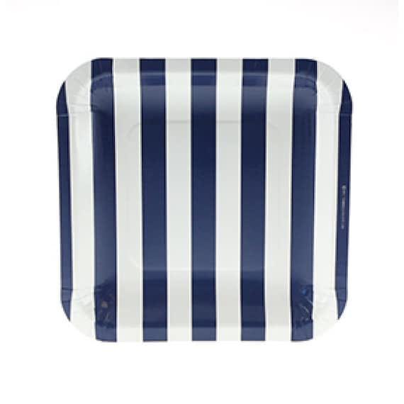 sc 1 st  Etsy & Plates Navy Candy Stripe Party Plates 7.25 Navy and