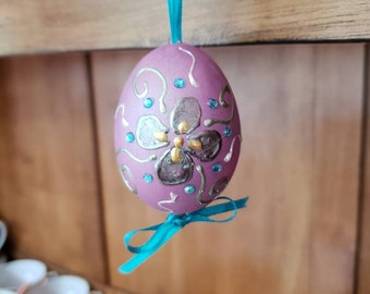 Hand Painted Duck Egg spring