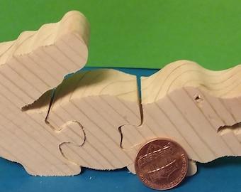 Wooden Mini Baby Gator Puzzle
