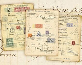 Instant download Digital collage sheet Greeting cards Digital backgrounds Jewelry holders Vintage paper craft images - PAPER GOODS