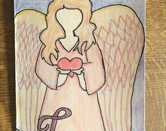 Angel of love card
