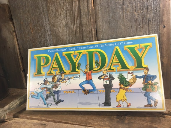 Vintage Payday board game from 1994, vintage Parker Brothers board game, Payday game,vintage money game, vintage game night, family fun game