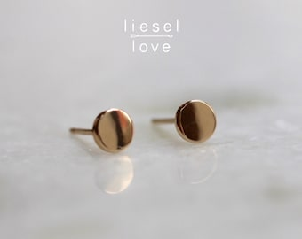 Solid 10K Gold Dot Studs