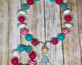 Frozen Elsa Bubblegum Chunky Necklace Set