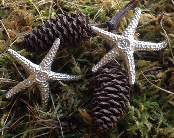 Sea Star Starfish  Earrings only Sterling Silver with hypo allergenic posts