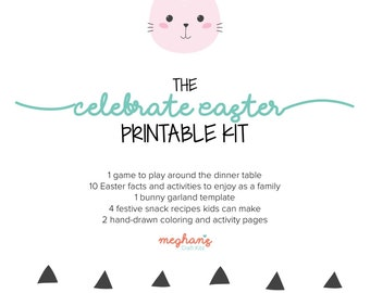 Celebrate Easter with this Printable Kit! Easter Coloring Pages, Easter Games, Easter Recipes, Fun Facts and Family Activities List
