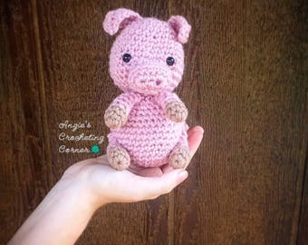 Piglet Amigurumi Free Pattern : Pig stuffed animal pig amigurumi pig crochet toy pig plush
