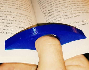 Thumb Book Page Holder Custom Text Gift For Readers - 3D Printed