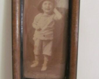 Walnut Frame Portrait Pictures Vintage Portrait picture Boy Victorian Antique Picture Frames Victorian Wall Decor Antique Children Pictures