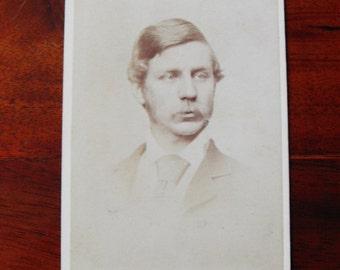 Carte de Visite of a man with moustache. 1880