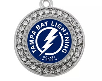 Tampa Bay Lightning Hockey Bolts Rhinestone Charms or Connectors