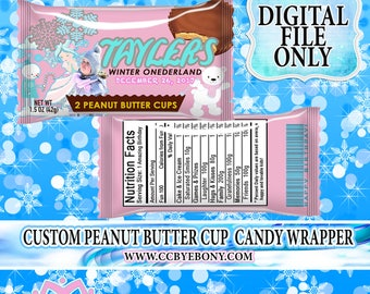 Winter ONEderland Peanut Butter Cup Wrapper