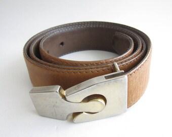 Pierre Cardin vintage leather belt. 1960's rare.