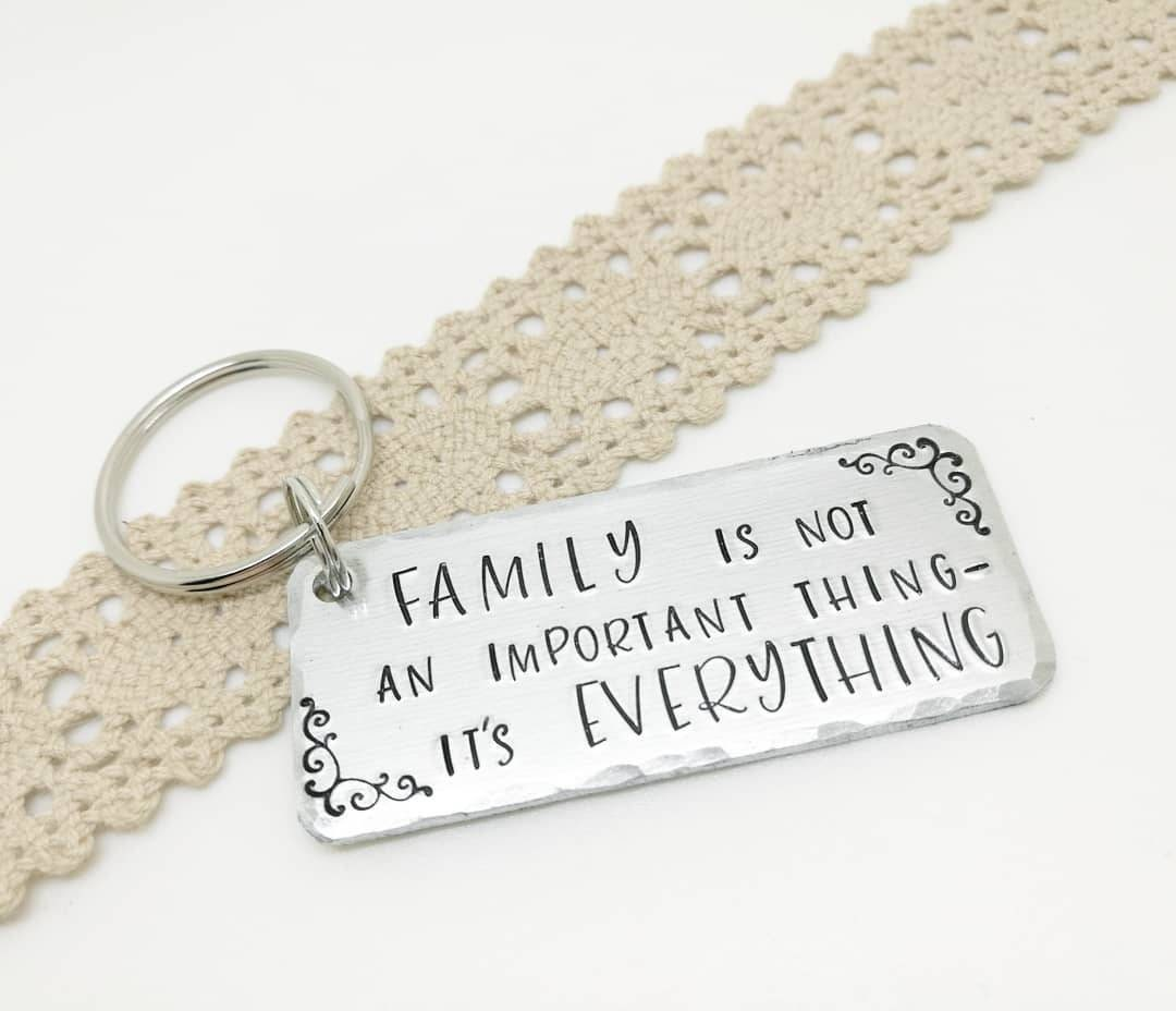 Wedding favors Family is everything hand stamped keepsake