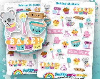 30 Cute Baking/Cooking/Cakes/Cookies Planner Stickers, Filofax, Erin Condren, Happy Planner,  Kawaii, Cute Sticker, UK