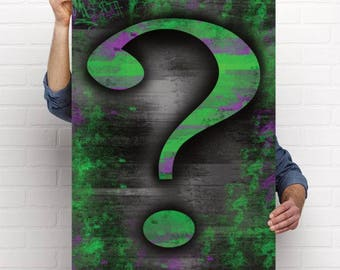 The Riddler Question Mark Poster