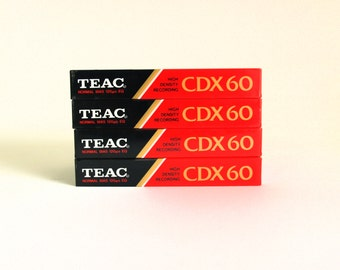 Teac CDX 60 Tape Cassettes - Vintage Retro High Density Recording For CD Blank Tapes - New & Sealed - Made in Korea