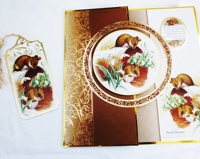 Field Mouse Christmas Card, Greeting Card,Winter Scene, Free Book Mark, Male or Female, Any Age, Mum, Dad
