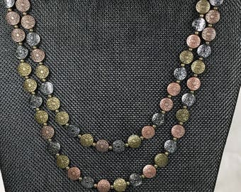 Antiques Metal Coin Shaped/Lentil shaped 10mm Necklace