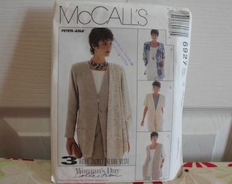 Vintage-Muster, McCall 6927, Jahrgang McCall, ungeschnitten Muster, verfehlt Jacke, Muster, 1994 Muster, Damen-Muster, plus Größe Muster