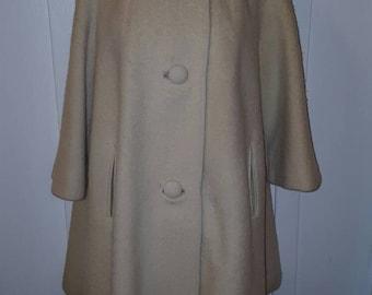 Vintage 1960s Lilli Ann Cream Coat TLC