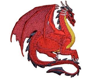 Fantasy Dragon Applique Patch (Iron on)