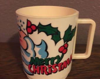Vintage Deka Merry Christmas Santa Mug