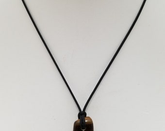 Tiger Eye Pendant Necklace, Free Shipping (18470), Tiger Eye Necklace, Tiger Eye Mala Pendant, Pendantlady,pq