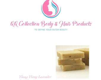 Ylang Ylang Lavender Soap Bar 4oz,Natural Soap, Face Soap, Made with Shea Butter, Organic Oil, for Men and Women