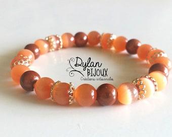 Orange Gold Bracelet - nickel free