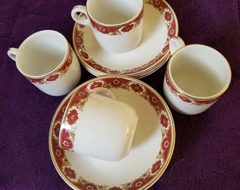 Set of 4 Expresso Cups and Saucers by Maddock