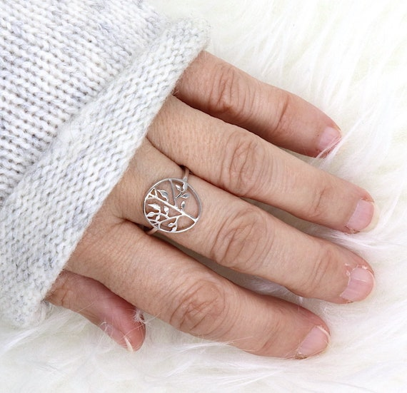 Tree of life ring Silver 925