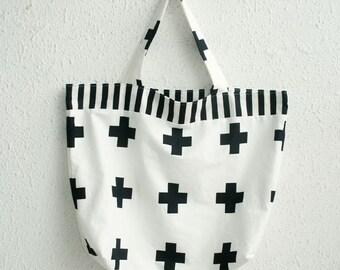 Scandinavian Nordic Style Modern Cross Pattern Cotton Fabric by Yard AQ52