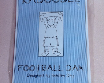 Football Dan Rubber Stamp by Kadoodle Stamps