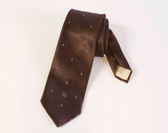 Vintage Brown Christian Dior Necktie