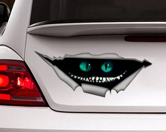 Cheshire cat car decal, Alice in wonderland decal, Cheshire sticker, car sticker