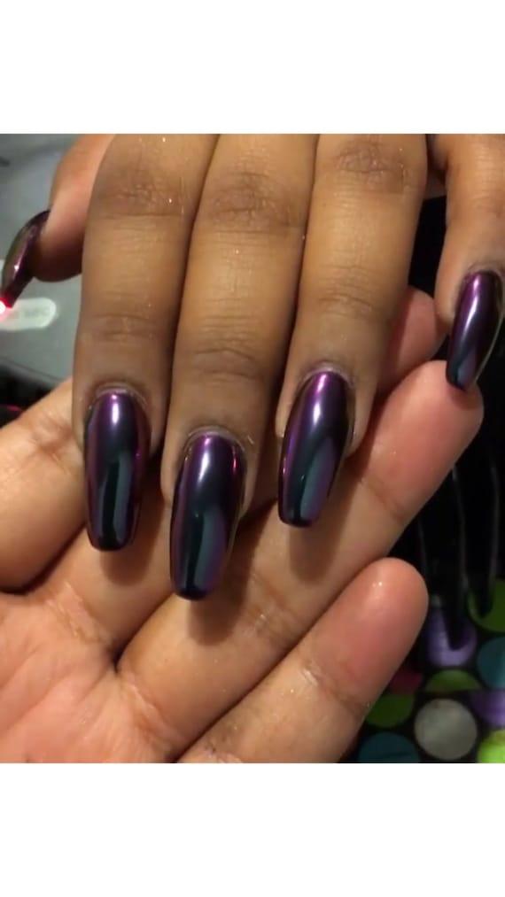 MIRROR Nail CHROME Powder Purple/Blue Chameleon for Nail