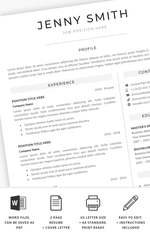 Lebenslauf Vorlage Word Professional 1 Lebenslauf Seite 2