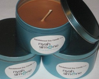 Sandlewood Soy Massage Candle 8oz.