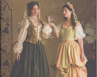 Simplicity 3809 Misses Renaissance Costume UNCUT Sewing Pattern